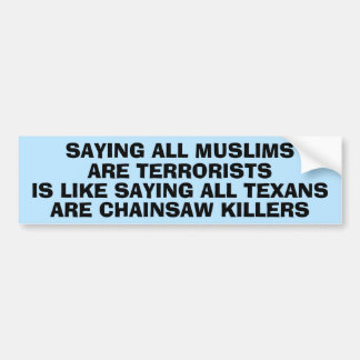Islamophobiaについての声明 バンパーステッカー