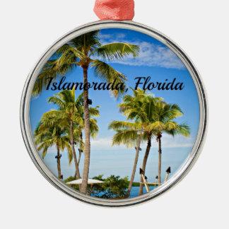 Islamoradaのフロリダのヤシの木 メタルオーナメント