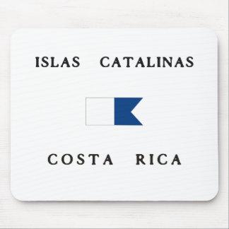 Islas Catalinasコスタリカのアルファ飛び込みの旗 マウスパッド