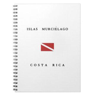 Islas Murcielagoコスタリカのスキューバ飛び込みの旗 ノートブック