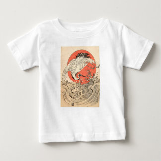 Isoda Koryusai -クレーン、波および朝日 ベビーTシャツ