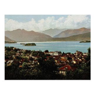 Isola BellaおよびStresa、Maggioreの湖の、イタリアv ポストカード
