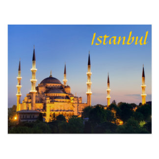 Istanbul - Blue Mosque at twilight ポストカード