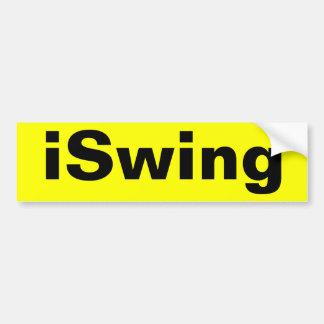 iSwingバンパーステッカー バンパーステッカー