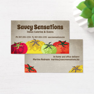 Italian food tomatoes chef catering business card 名刺