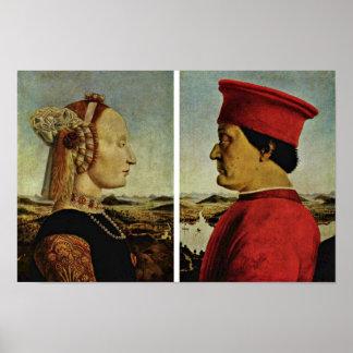 Italiano: Ritrattoのディディミアムフェデリーコ・ダ・モンテフェルトロのこうもり ポスター