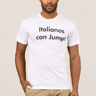 Italianosは跳ぶことができます Tシャツ