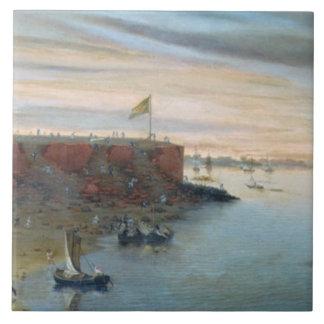 Itapiru、パラグアイ1866年(キャンバスの油) タイル