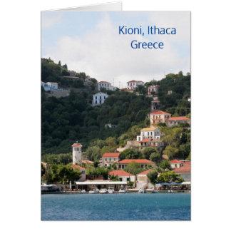 Ithaca、ギリシャのKioniの村 カード