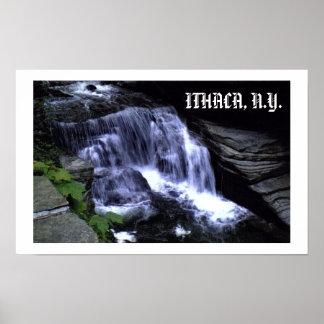 ITHACA、ニューヨークの水秋ポスター ポスター