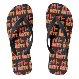 It'll Be Reyt Yorkshire British Slang Flipflops ビーチサンダル