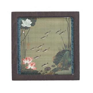 Ito Jakuchu著はす池そして魚 ギフトボックス