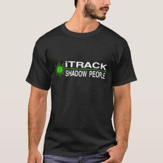 iTrackの影の人々-緑レーザー Tシャツ