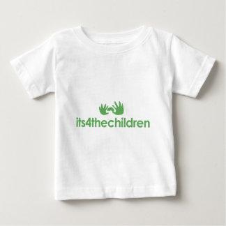 Its4thehildrenの緑のロゴ ベビーTシャツ