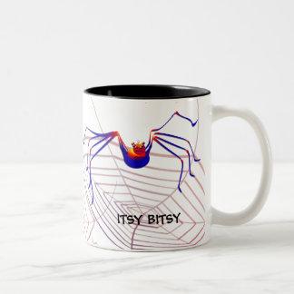Itsy Bitsyのくものマグ ツートーンマグカップ