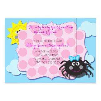 Itsy Bitsyのくもの招待 カード