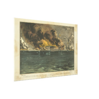 Ives著城砦Sumterの衝突 キャンバスプリント
