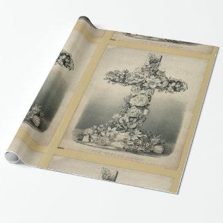 Ives 1869年著イースター十字 ラッピングペーパー