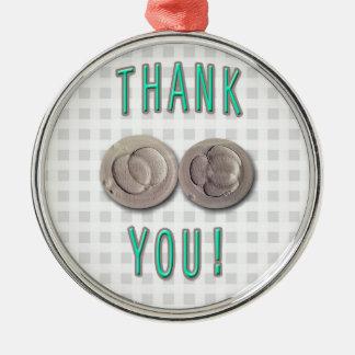 ivfの体外受精の胚ありがとう メタルオーナメント