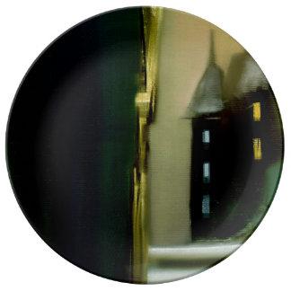 Ivo著城の絵画 磁器プレート