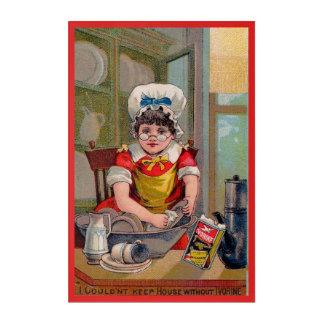 Ivorineの石鹸のためのビクトリア時代の人の貿易カード アクリルウォールアート