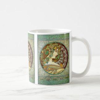 Ivy , Alfons Mucha コーヒーマグカップ