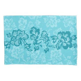 Iwalaniのヴィンテージハワイの花バンドリバーシブル 枕カバー