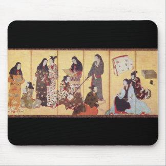 Iwasa Matabei c. 1650年の日本著絵を描くこと マウスパッド
