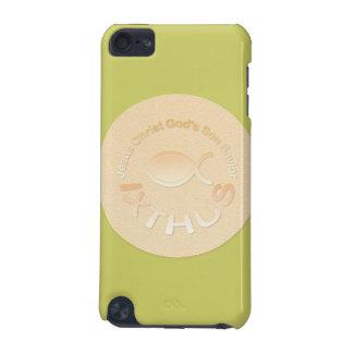 IXTHUSのキリスト教の魚の記号-金ゴールド iPod TOUCH 5G ケース
