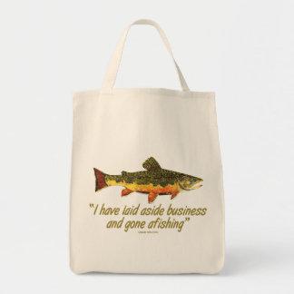 Izaak Waltonの魚釣りの引用文 トートバッグ