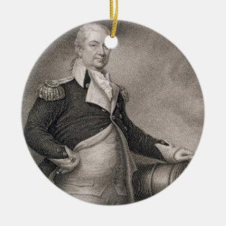 Jによって刻まれるMajor GeneralヘンリーKnox (1750-1806年) セラミックオーナメント
