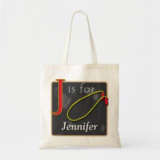 Jはジェニファーのため縄跳びJのためですです トートバッグ