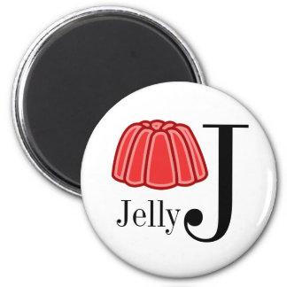 Jは子供のゼリーの手紙の磁石のためです マグネット
