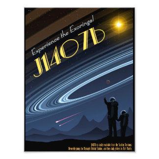 J1407bの宇宙旅行ポスター フォトプリント
