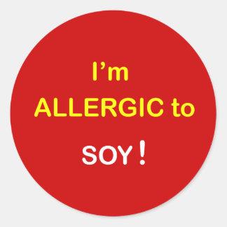 j5 -私はアレルギー-大豆です ラウンドシール