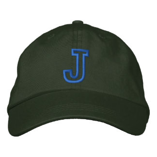 """J""の小さい運動手紙 刺繍入りキャップ"