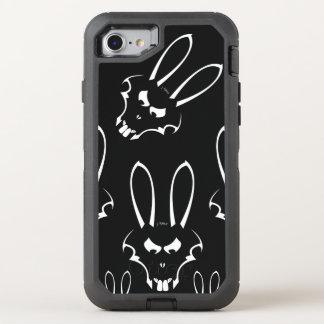 J.白いRabbit Logoの電話 オッターボックスディフェンダーiPhone 8/7 ケース
