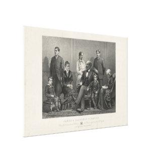 J.H Buffords及び息子によるジェームズ・ガーフィールド及び家族 キャンバスプリント
