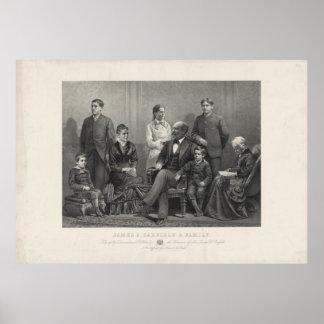 J.H Buffords及び息子によるジェームズ・ガーフィールド及び家族 ポスター