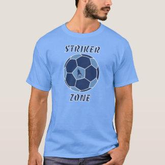 J Mo網LTによるBLUE/DK BLUE罷業者の地帯 Tシャツ