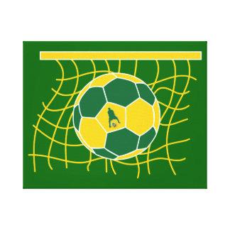 J-MO-NET-GRN/GLDによるサッカーのゴール キャンバスプリント