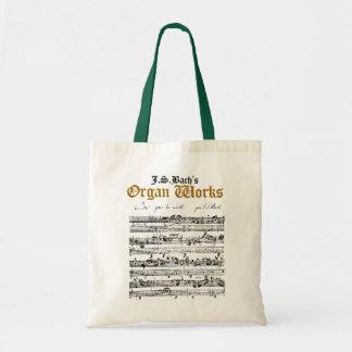 J.S. Bachの器官はトートバックを働かせます トートバッグ