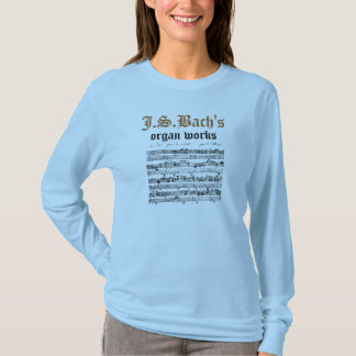 J.S.Bach器官の仕事 Tシャツ