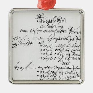 J.S. Bach'sのサラリーの支払からの抄録 メタルオーナメント
