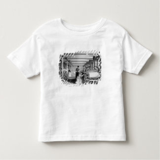 J. Tingleが刻む力織機の編むこと1835年 トドラーTシャツ