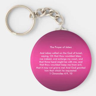 Jabez Keychainの祈りの言葉 キーホルダー