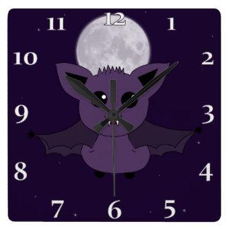Jacこうもり; 飛ぶおやすみなさい スクエア壁時計