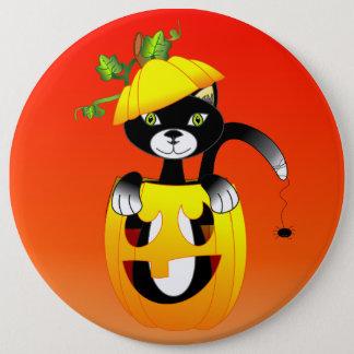 Jack O Lantern And Black Cat 15.2cm 丸型バッジ
