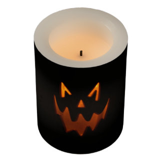 Jack-O-Lantern Face Halloween Themed Candle LEDキャンドル