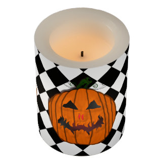Jack-O-Lantern Halloween Themed Candle LEDキャンドル